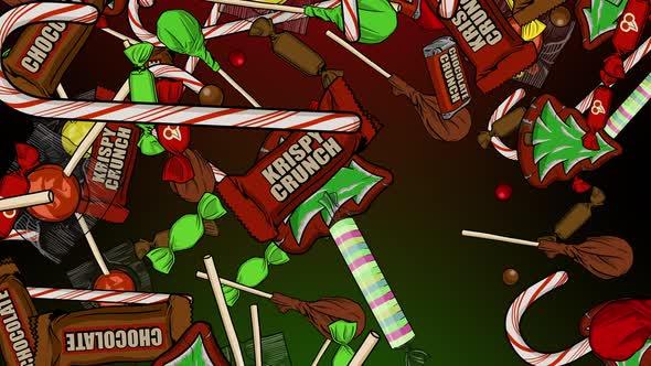Christmas Candy Raining Down