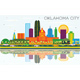 Oklahoma City Skyline with Color Buildings, Blue Sky and Reflections. - GraphicRiver Item for Sale