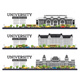 University Campus Set. Study Banners Isolated on White. - GraphicRiver Item for Sale