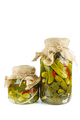 Glass jars with pickled cucumbers - PhotoDune Item for Sale