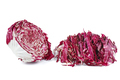 Half and chopped radicchio salad isolated on white background - PhotoDune Item for Sale
