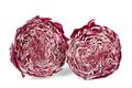 Head of radicchio salad cut on half isolated on white background - PhotoDune Item for Sale