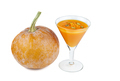 Glass goblet with pumpkin mousse - PhotoDune Item for Sale