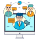 Online Meeting of Business People - GraphicRiver Item for Sale