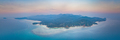 Aerial shot Ko Pha-ngan island at the sunset - PhotoDune Item for Sale