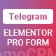 Elementor Pro Form Widget - Telegram - Sender - CodeCanyon Item for Sale