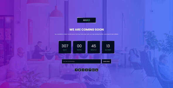 Ahad - Coming Soon Template