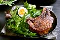 Grilled pork steak with green salad - PhotoDune Item for Sale