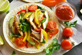 Taco with chicken meat and vegetables - PhotoDune Item for Sale