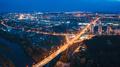 Grodno, Belarus. Night Aerial Bird's-eye View Of Hrodna Cityscape Skyline. Residential District - PhotoDune Item for Sale