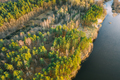 Aerial View Of Mixed Forest And River Landscape. Top View Of Beautiful European Nature From High - PhotoDune Item for Sale