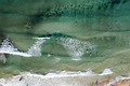 Thassos seaside beach with turquoise water and big waves aerial view. - PhotoDune Item for Sale