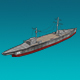 Low Poly Battleship - 3DOcean Item for Sale