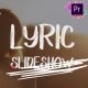 Lyric Slideshow | Premiere Pro