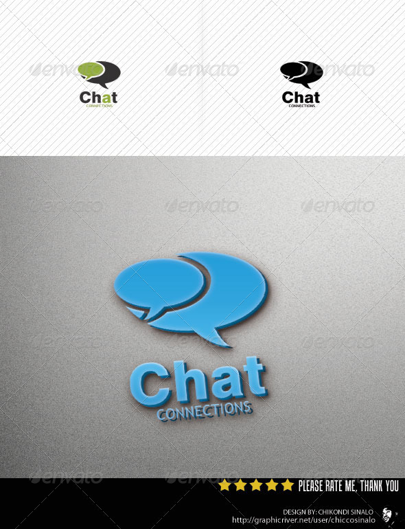 Chat Connections Logo Template
