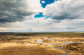 Belarus. Aerial View Of Dry Grass And Curved River Landscape In Early Spring Day. High Attitude View - PhotoDune Item for Sale