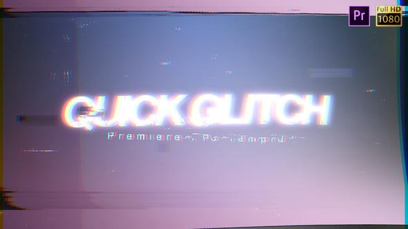 Quick Glitch - Premiere Pro