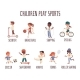Vector Banner with Cartoon Characters of Sports - GraphicRiver Item for Sale