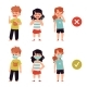 Vector Set of Characters of Children with Flu - GraphicRiver Item for Sale