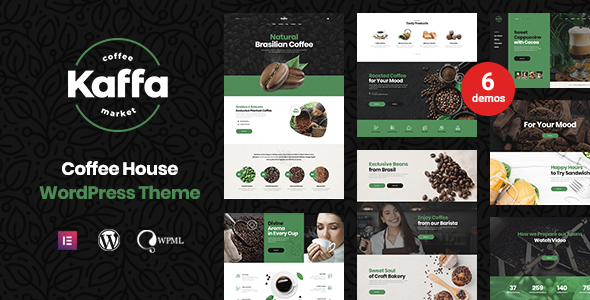 Kaffa - Cafe & Coffee Shop WordPress Theme