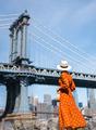 Beautiful woman at the Manhattan Bridge - PhotoDune Item for Sale