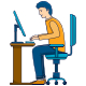 Men Work on Computers - GraphicRiver Item for Sale