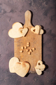 Handmade cookies in shape of heart - PhotoDune Item for Sale