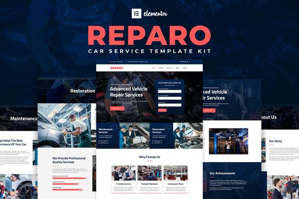Reparo - Car Service Elementor Template Kit