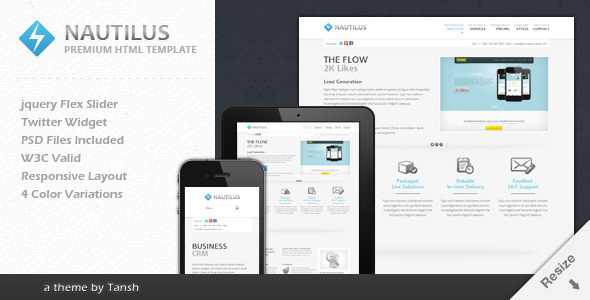 Nautilus One Page Responsive Business Template