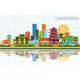 Changsha China City Skyline with Color Buildings - GraphicRiver Item for Sale