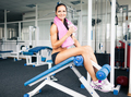 Charming fit girl resting in gym - PhotoDune Item for Sale