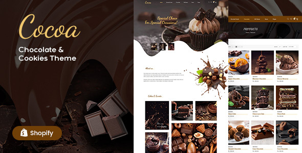 Cocoa - Chocolates Store Shopify Theme