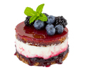 Cheesecake with fresh blueberries and blackberries, blueberry jam and jelly - PhotoDune Item for Sale