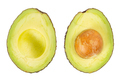 Two slices of avocado isolated on the white background. - PhotoDune Item for Sale