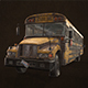 Abandoned School Bus - Low Poly - 3DOcean Item for Sale