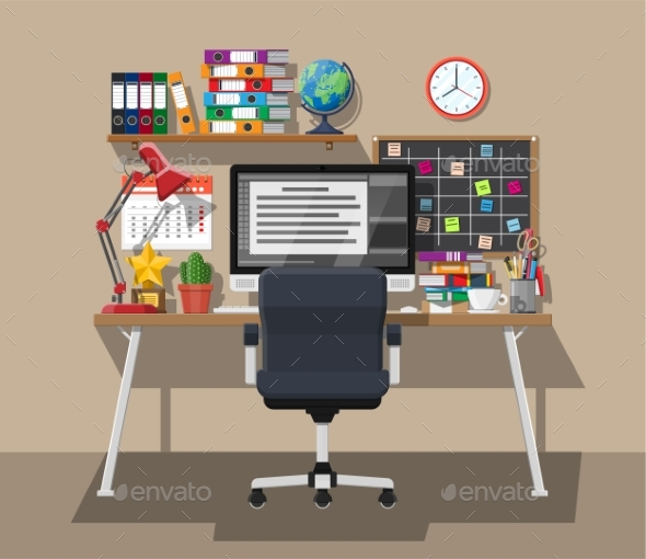 Modern Creative Office or Home Workspace