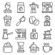 Barista Icons Coffee Drink Equipment Set Vector - GraphicRiver Item for Sale