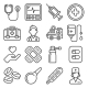 First Medical Aid Icons Set on White Background - GraphicRiver Item for Sale