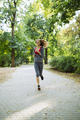 Young blonde woman jogging - PhotoDune Item for Sale