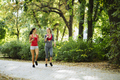 Beautiful sporty women jogging - PhotoDune Item for Sale