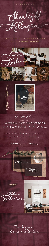 Skarlight Millagra - Script Font