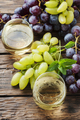 White grapes juice on the wooden table - PhotoDune Item for Sale