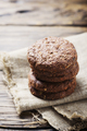 Sweet chocolate cookies on the wooden table - PhotoDune Item for Sale