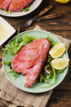 Cooked delicious tuna fish with green salad - PhotoDune Item for Sale