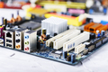 Closeup on electronic board in hardware repair shop - PhotoDune Item for Sale