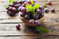 Sweet red grapes on the wooden table - PhotoDune Item for Sale