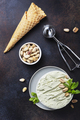 Homemade ice cream with pistachio and mint - PhotoDune Item for Sale