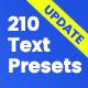 210 Text Presets
