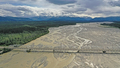 Aerial View over Big Delta River Junction and the Highway 2 Bridge Alaska - PhotoDune Item for Sale