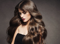 Beautiful hair brunette  woman healthy skin fashion make up natural hairstyle - PhotoDune Item for Sale